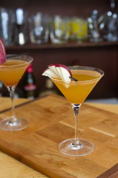 Apple pie Martini.Very delicious mixed drink with Calvados,vodka and vermouth.