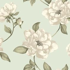 Tapet Classic m Grön Pion Non-woven Flower Wallpaper, Pattern Wallpaper, Recycling, How To Purl Knit, Decoupage Paper, Wall Tiles, Textile Design, Baby Knitting, Beige