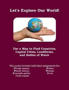 Europe  Mapping Activity  Map activities Capital city and
