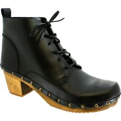 Sanita Yepa Boot. Love the laces as clog booties are always so tough to put on!