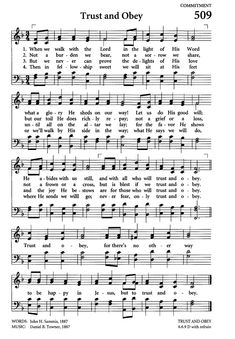Celebrating Grace Hymnal 509. When we walk with the Lord | Hymnary.org