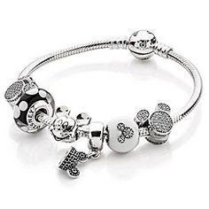 Mickey Clips Collection by PANDORA | Disney Store Classic style is yours when you don the iconic and on-trend Mickey Clips Collection by PANDORA, featuring our famous mouse in sparkling style as well as an elegant sterling silver Mickey bracelet.