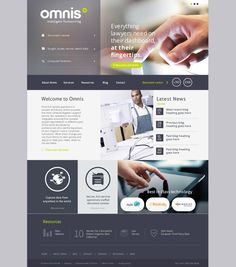 Omnis Intelligent Outsourcing by Yorkhill Creative on Behance | #UI #web #design