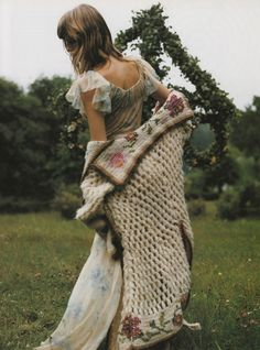 """""""In A Fairy Tale Mood"""": Angela Lindvall photographed by Mikael Jansson for Vogue Italia, October 2001 John Galliano 