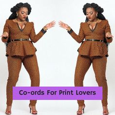 African clothing African print jumpsuit by CoCoCremeCouturier African Print Pants, African Print Dresses, African Fashion Dresses, African Dress, Ankara Fashion, Ck Fashion, African Prints, African Attire, African Wear