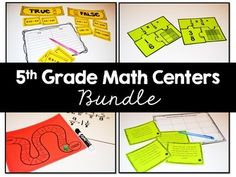 5th Grade Math Centers. This huge resource includes 85 math centers that review all of the fifth grade math standards. There are multiple centers per standard. These are so engaging. Your students will love them!