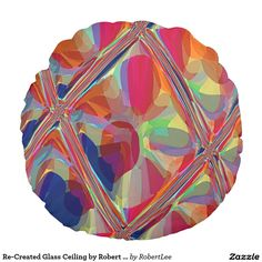 Re-Created Glass Ceiling by Robert S. Lee Round Pillow #Robert #S. #Lee #pillow #art #artist #graphic #design #colors #kids #children #girls #boys #style #throw #cover #for #her #him #gift #want #need #abstract #home #office #den #family #room #bedroom #living #customizable