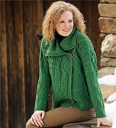 Main image for Merino Wool Corina Cardigan Sweater with Single-Button Front