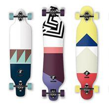 Novo design dos longboards Apex por Axel Peemoeller
