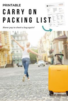 And i loved that i didn& have to spend money checking a travel Carry On Packing, Packing List For Travel, Cruise Travel, Packing Tips, Travel 2017, Europe Packing, Vacation Packing, Vacation Ideas, Travel Money