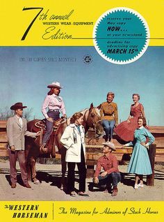 Wonderful western wear filled cover! #vintage #cowboys #cowgirls #fashion