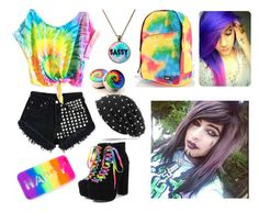 """Riding Roller Coasters With Dahvie Vanity"" by skye-mist ❤ liked on Polyvore featuring Levi's and cutekawaii"