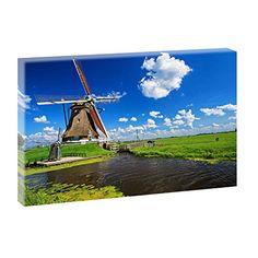 Niederlande - Windmühle | Panoramabild im XXL Format | Trendiger Kunstdruck auf Leinwand | Verschiedene Größen Querfarben http://www.amazon.de/dp/B00PUCJKEK/ref=cm_sw_r_pi_dp_JCHBub1E9FZGT