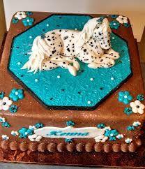 fondant cake with horses