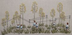 Michelle Kingdom's new hand embroidery is another terrific piece of textile art. Check it out at Mr X Stitch!