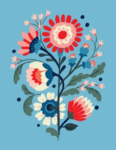 Floral Exploration by Jill De Haan, via Behance