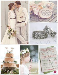 Rustic Shabby Chic Bohemian Wedding Ideas | Heart Love Weddings