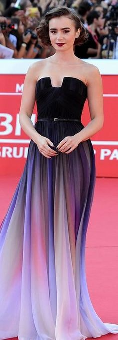 Lily Collins in Elie Saab Haute Couture