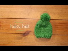 FREE Baby Hat Knitting Tutorial