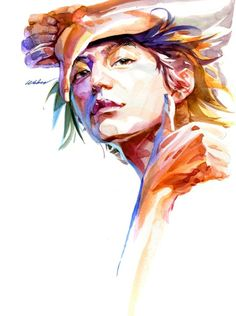 watercolor by zhang weber, via Behance