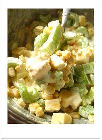 """Z zapachem wanilii we włosach...: Seler naciowy """"zaklęty"""" w kolejnej sałatce teściowej Lettuce, Potato Salad, Macaroni And Cheese, Cabbage, Salads, Food And Drink, Vegetables, Ethnic Recipes, Impreza"""