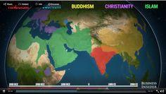 How religion(s) spread across the world