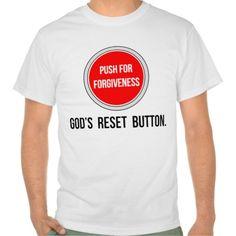 Push for Forgiveness Christian T Shirts