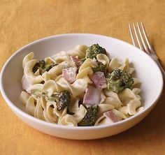 creamy ham pasta Dinner on a Dime: Creamy Pasta with Ham and Broccoli