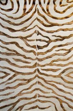 Animal Print Area Rugs 5x8 Zebra Silk Carpet Brown:Amazon:Furniture & Decor