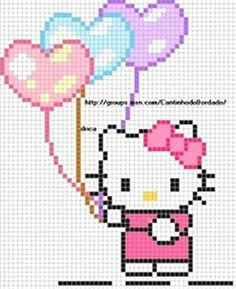 Hello Kitty cross stitch chart