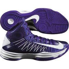 hot sale online 0dde4 86d1e Women s NIKE HYPERDUNK 2012 TB Basketball Purple Shoes Lunarlon 5