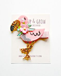 Hey, I found this really awesome Etsy listing at https://www.etsy.com/listing/187608571/nautical-hair-clip-flamingo-hair-clip