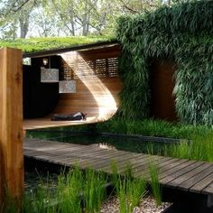 Green roof and vertical garden are an interesting way to incorporate nature into (and onto) your home.