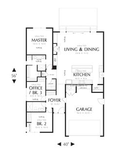 Park Place House Plan - 3085 a flat roof home