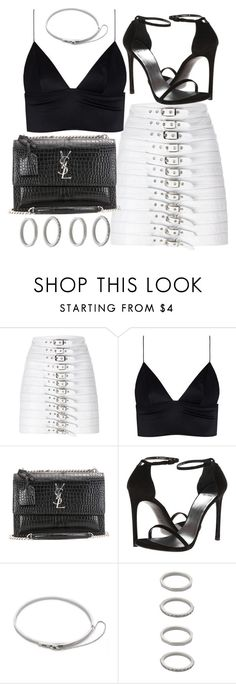"""Untitled #20618"" by florencia95 ❤ liked on Polyvore featuring Manokhi, T By Alexander Wang, Yves Saint Laurent, Stuart Weitzman, Eddie Borgo and Forever 21"