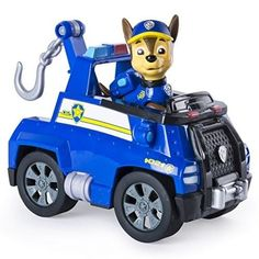 Nickelodeon Paw Patrol Chase Figure Tow Truck Vehicle Kid Toy Fun Christmas Gift for sale online Toy Cars For Kids, Kids Toys, Tow Truck, Trucks, Dinosaur Videos, Dog Toys Amazon, Paw Patrol Toys, Best Dog Toys, Choo Choo Train