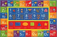 Kev  Cooper Playtime Collection ABC Numbers and Shapes Educational Area Rug  33 x 47 ** Check out the image by visiting the link. Note: It's an affiliate link to Amazon.