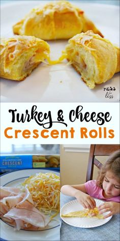 My kids love having this for a quick lunch or snack. This turkey and cheese crescent roll recipe is cheesy, filling and super easy to make.