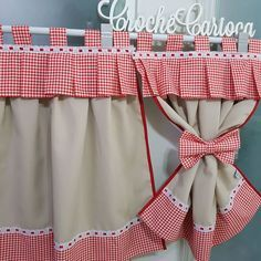 How To Make Curtains, Diy Curtains, Curtains With Blinds, Kitchen Blinds, Kitchen Curtains, Home Decor Kitchen, Diy Home Decor, Crochet Baby Sandals, Bedroom Closet Design