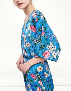 Printed kimono jumpsuit - Jumpsuits   Stradivarius Other Countries