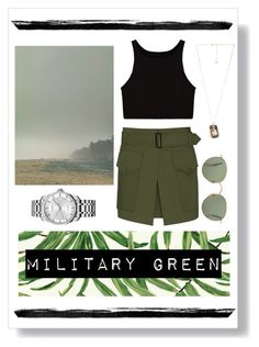 """Military  GREEN"" by velenlymarques on Polyvore featuring York Wallcoverings, Barbara Bui, Calvin Klein and Lanvin"