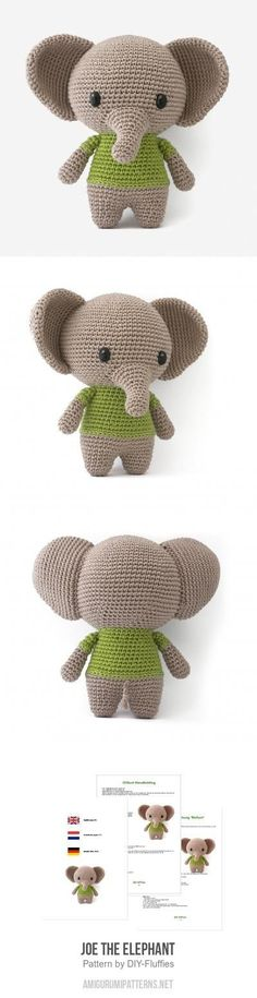 Joe the Elephant amigurumi pattern