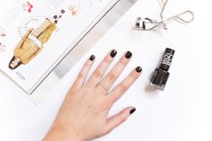 A Little Soapbox: Rimmel 60 Seconds Nail Polish in Black Out