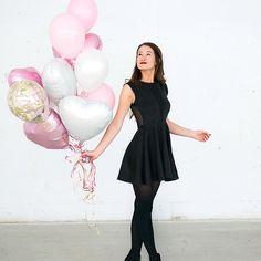 pour une vidéo de st-valentin hehe ✨! les ballons sont trop trop cute et ils viennent de chez @balloonbar.ca photo par @valiegb Emma Verde, Photo Instagram, Instagram Posts, Vsco Pictures, Tumblr Outfits, Youtubers, Pink Ladies, Fashion Show, Ballet Skirt