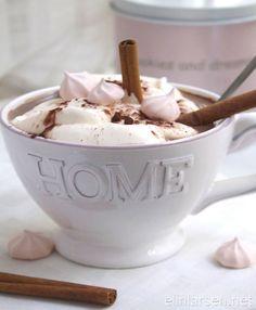 Hot cocoa with vanilla cream
