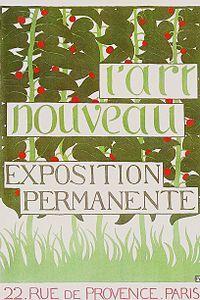 Poster by Félix Vallotton for the new Maison de l'Art nouveau (1896)