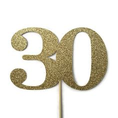 30 Cake Topper - 30th Birthday Decorations                                                                                                                                                                                 More