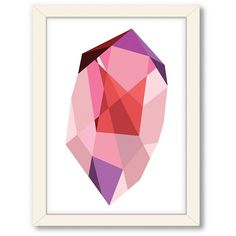 Americanflat Urban Road Geometric Gemstone Framed Wall Art (765 CNY) ❤ liked on Polyvore featuring home, home decor, wall art, pink, framed wall art, pink wall art, vertical wall art, urban home decor and urban wall art