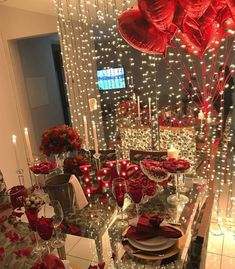 Valentines Gift, Her and His gift Romantic Room Surprise, Romantic Date Night Ideas, Romantic Dates, Romantic Dinners, Romantic Dinner Setting, Romantic Birthday, Birthday Room Decorations, Valentines Day Decorations, Valentines Diy