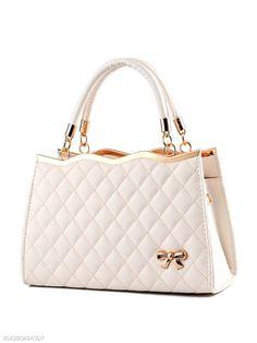 917e70e466 Quilted Bowknot Plain Pu Shoulder Small Shoulder Bag